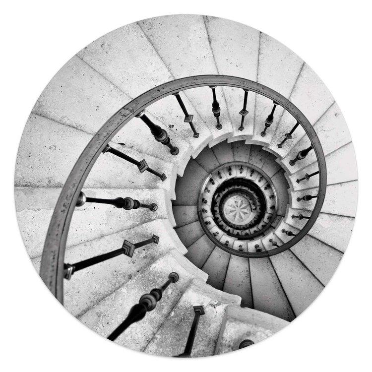 Spiraal trap  Traptreden - Wenteltrap  - Glasschilderij rond Glas