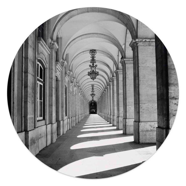 Het portaal Gebouw - Fotografie - Kunst - Glasschilderij rond Glas