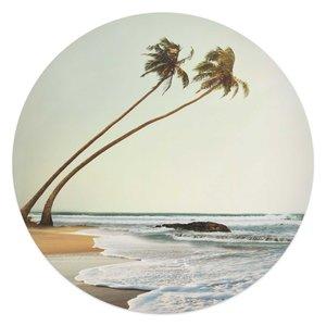 Glasschilderij rond Wuivende Palmen