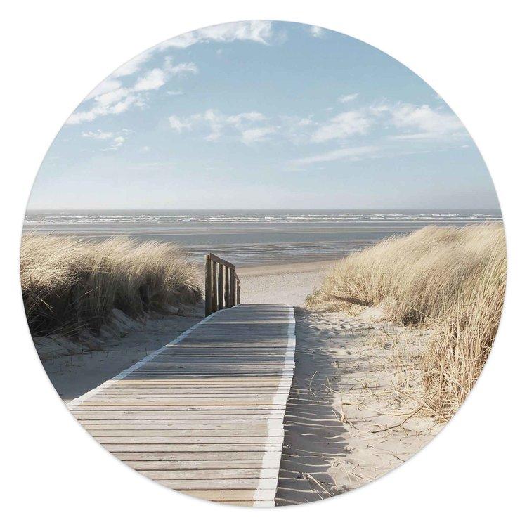 Pad door de duinen Strand - Zee - Zon - Vakantie - Glasschilderij rond Glas