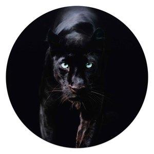 Glasschilderij rond Zwarte Panter