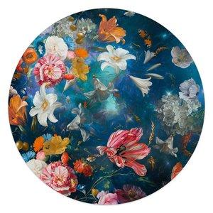 Glasschilderij rond Bloemenwereld