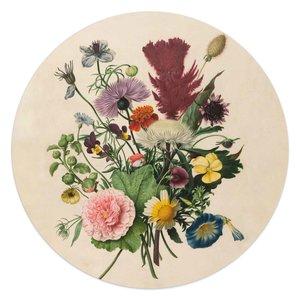 Glasschilderij rond Bloemen boeket