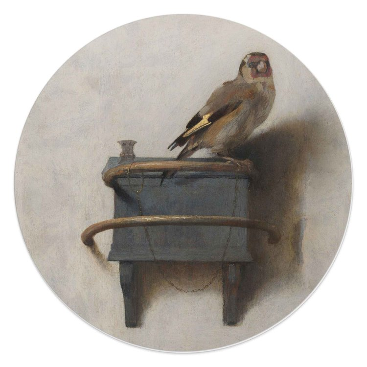 Het Puttertje Carel Fabritius - Glasschilderij rond Glas