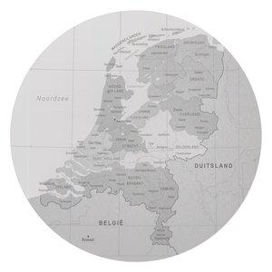 Glasschilderij rond Kaart van Nederland