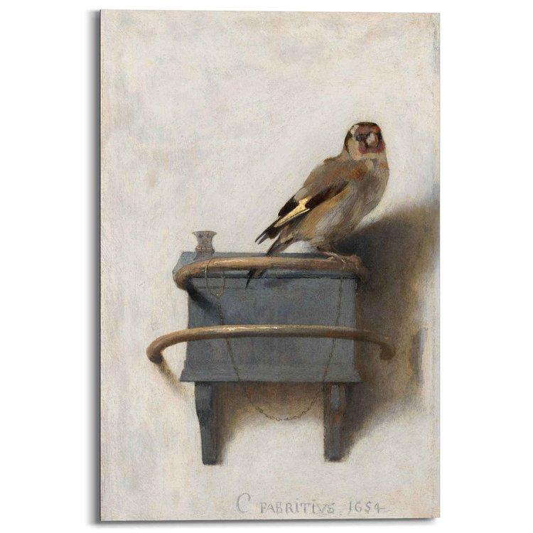 Het puttertje Carel Fabritius - Vogel - Kunst - Mauritshuis - Schilderij Deco Panel 60 x 90 cm MDF