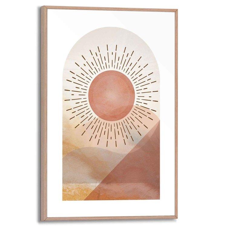 Zon Woestijn - Warmte - Roestbruin - Sahara  - Schilderij Slim Frame 20 x 30 cm MDF