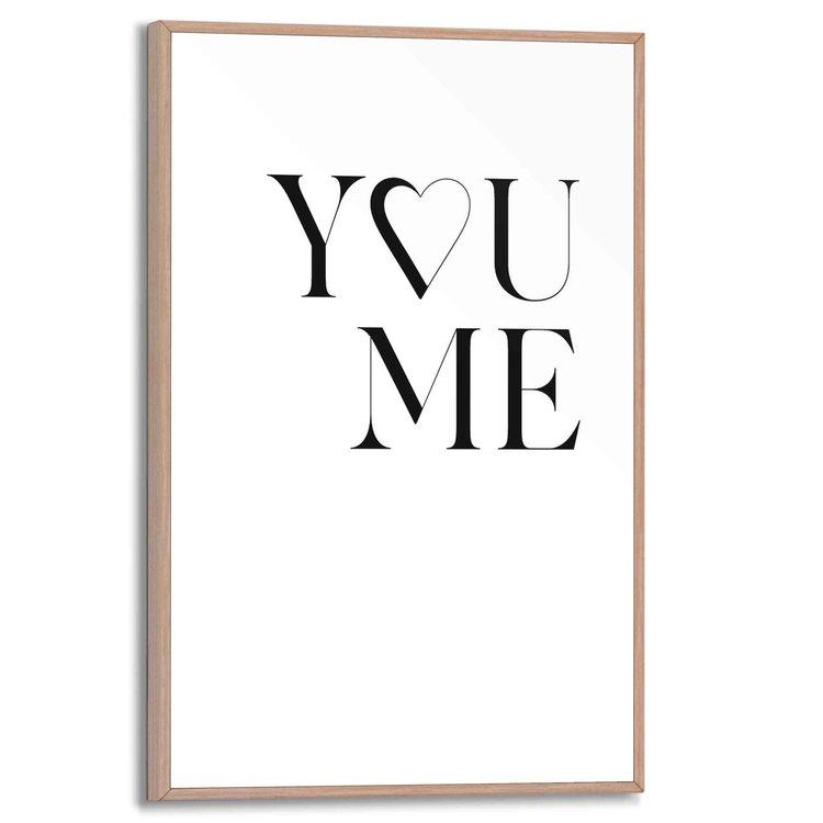 Liefde  Zielsverwanten  - Schilderij Slim Frame 20 x 30 cm MDF