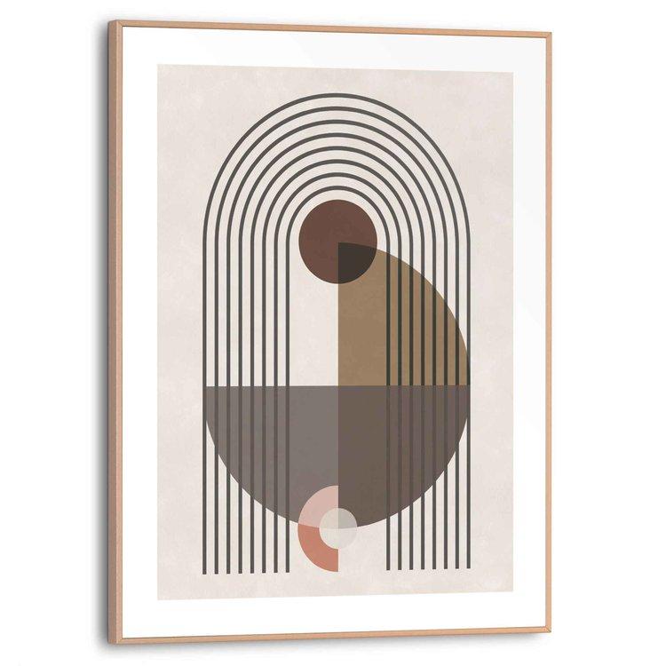 Patronen  Abstract - Vormen  - Schilderij Slim Frame 30 x 40 cm MDF