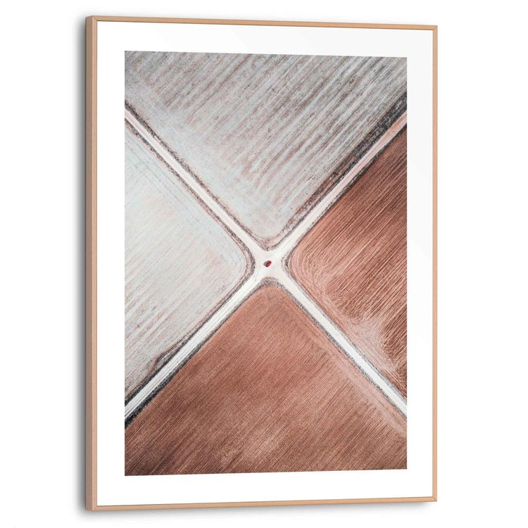 Kruispunt Richting - Filosofie - Kant - Abstract  - Schilderij Slim Frame 30 x 40 cm MDF