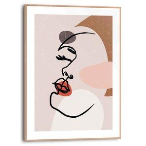 Schilderij Vrouwengezicht
