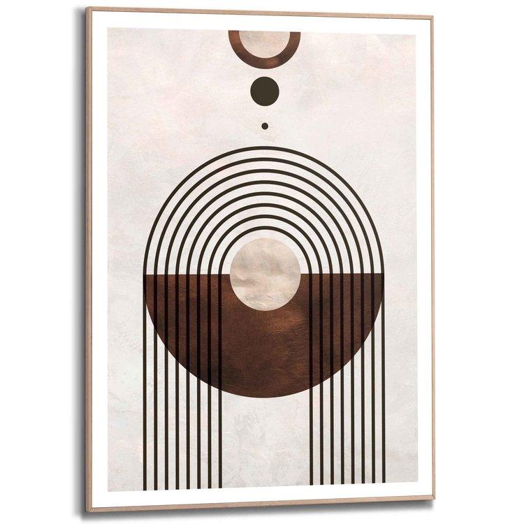 Abstrace vormen - Schilderij Slim Frame 50 x 70 cm MDF