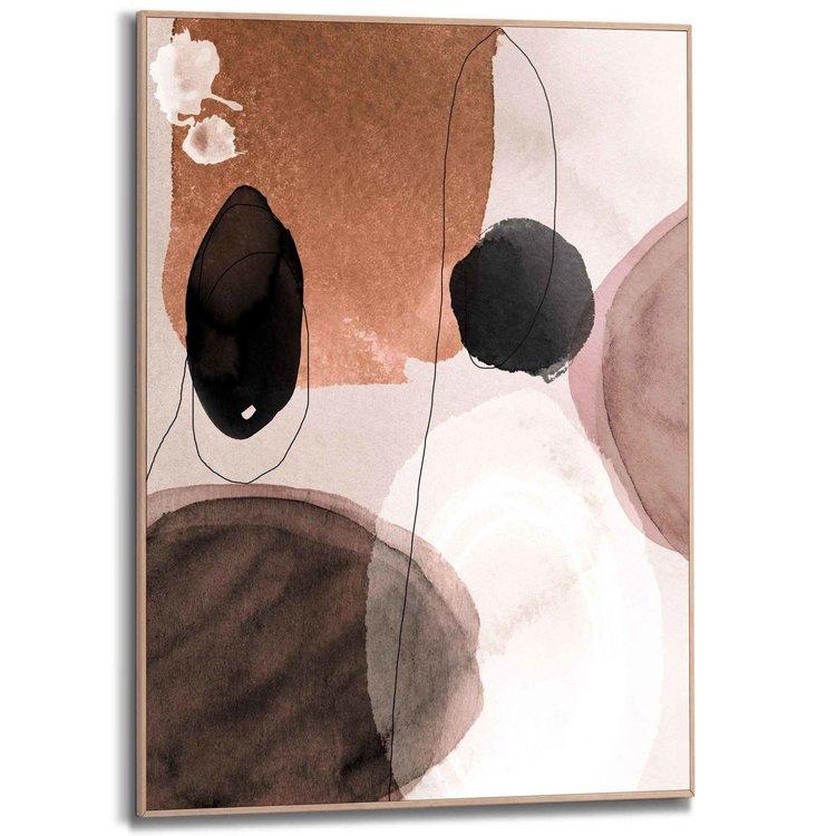 Abstracte vormen  - Schilderij Slim Frame 50 x 70 cm MDF