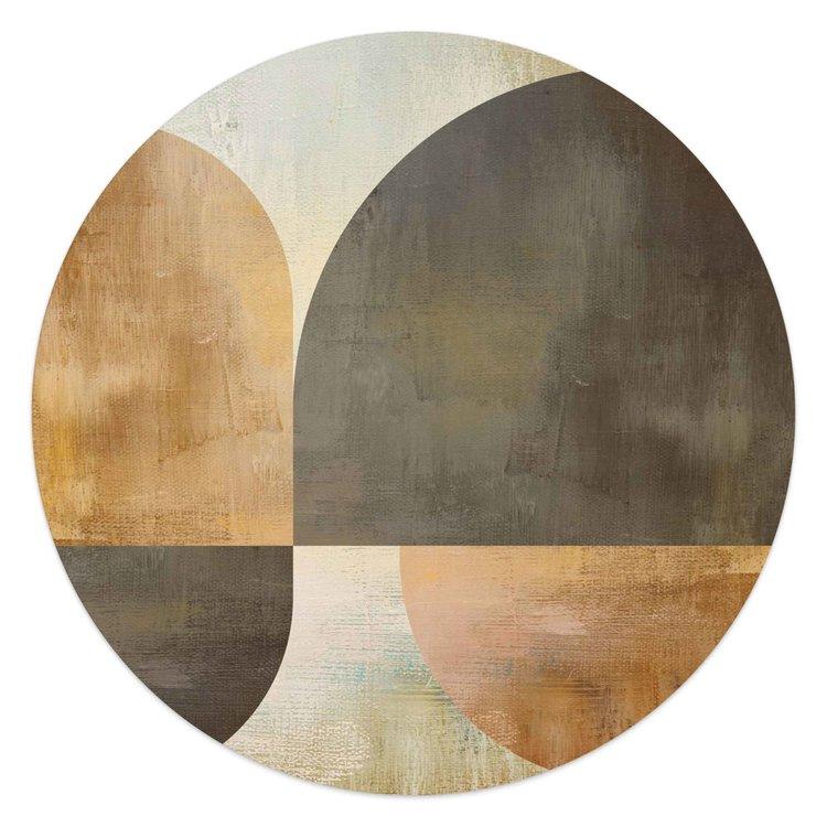Abstracte Vormen  - Schilderij Round Art 50 x 50 cm MDF