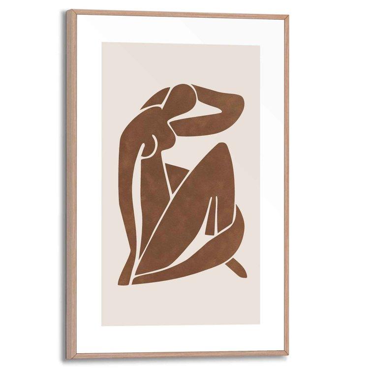 Body Language  Abstracte vormen  - Schilderij Slim Frame 20 x 30 cm MDF
