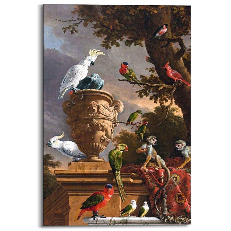 Melchior d´Hondecoeter - Rijksmuseum - Oude Meester - exotische vogels  - Schilderij Deco Panel 60 x 90 cm MDF