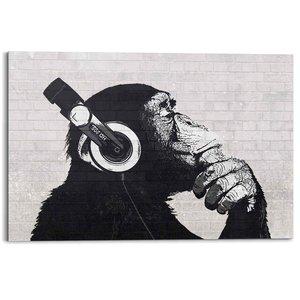 Schilderij Aap met koptelefoon