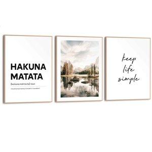 Schilderijen set Hakuna Matata