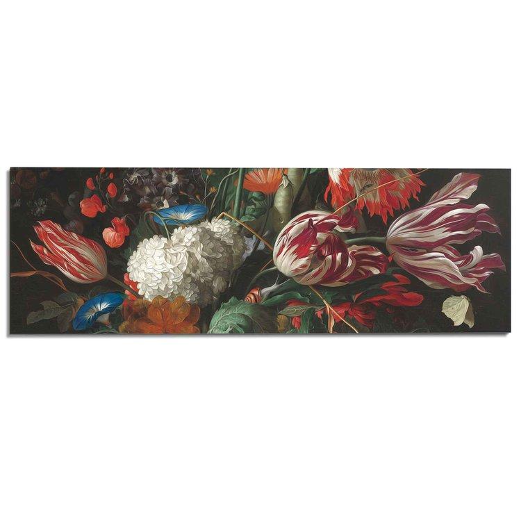 Stilleven met bloemen Jan Davidsz de Heem - Boeket - Oude Meester - Rijksmuseum - Schilderij Deco Panel 156 x 52 cm MDF