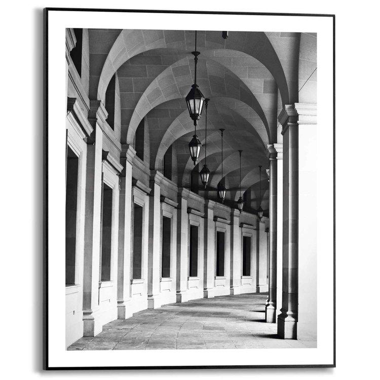 Zuilengang Bondsgebouw - Washington DC - Architectonisch - Galerij - Schilderij Slim Frame 40 x 50 cm MDF