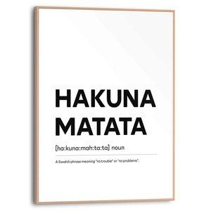 Schilderij Hakuna Matata