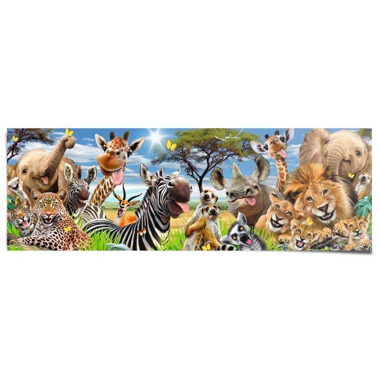 Wilde dieren Jungle - Dierentuin - Grappig  - Poster 158 x 53 cm Papier