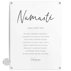 Tuinposter Namasté