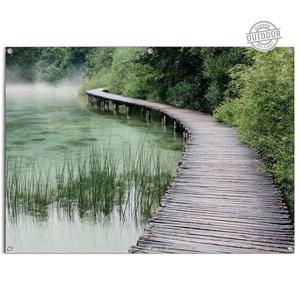 Tuinposter  Steiger aan de rand van het meer