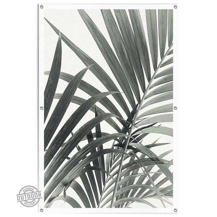 Palmbladeren Palmboom - Plant - Botanisch - Tuinposter 80 x 120 cm Canvas