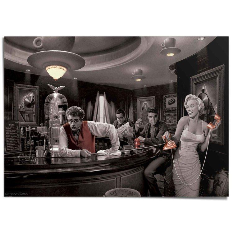 Java Dreams Cris Consani - James Dean - Marilyn Monroe - Elvis Presley - Vintage - XXL Poster 140 x 100 cm