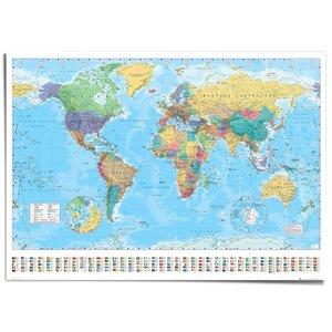 XXL Poster Wereldkaart