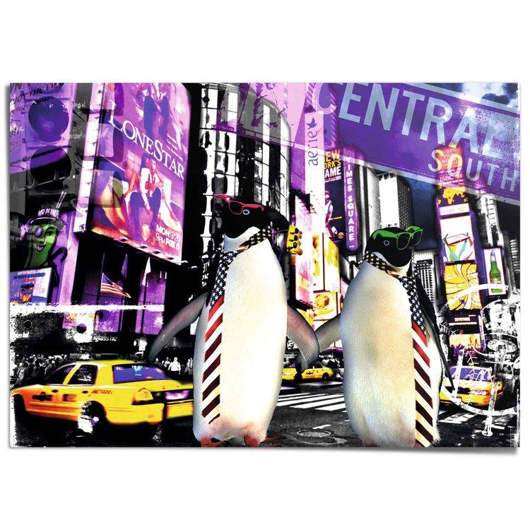 Jacksart pinguins New York - Times Square - XXL Poster 140 x 100 cm