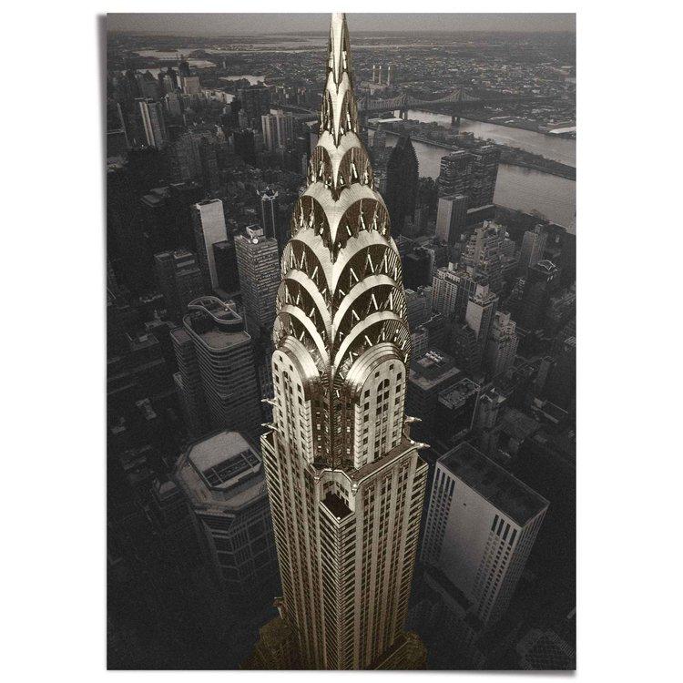 New York  Chrysler - The big Apple - XXL Poster 100 x 140 cm