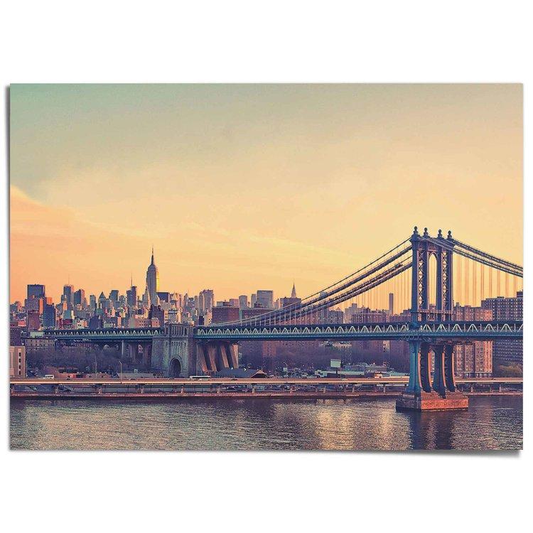 NY - Brooklyn Bridge - XXL Poster 140 x 100 cm
