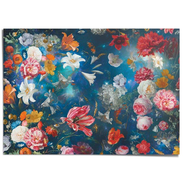 Bloemenwereld Kleurrijk - Bloemen - Planten - XXL Poster 140 x 100 cm