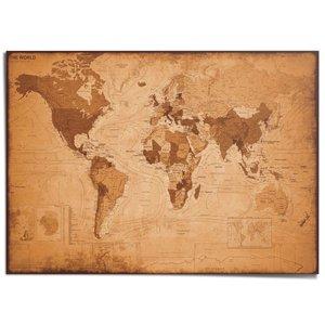 XXL Poster Wereldkaart antiek