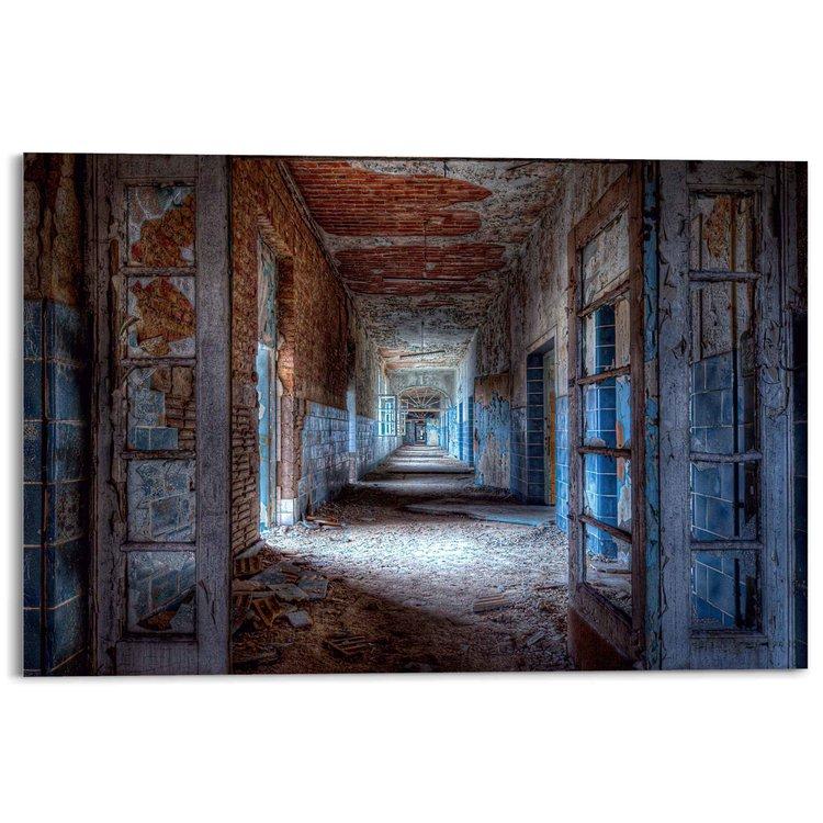 Verlaten Galerij Industrieel - Vervallen - Oud - Fabriek - Acrylglas 120 x 80 cm Plexiglas