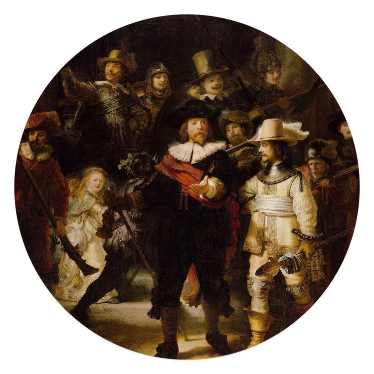 De Nachtwacht Rembrandt van Rijn - Oude Meester - Rijksmuseum - Acrylglas  Ø70 Plexiglas