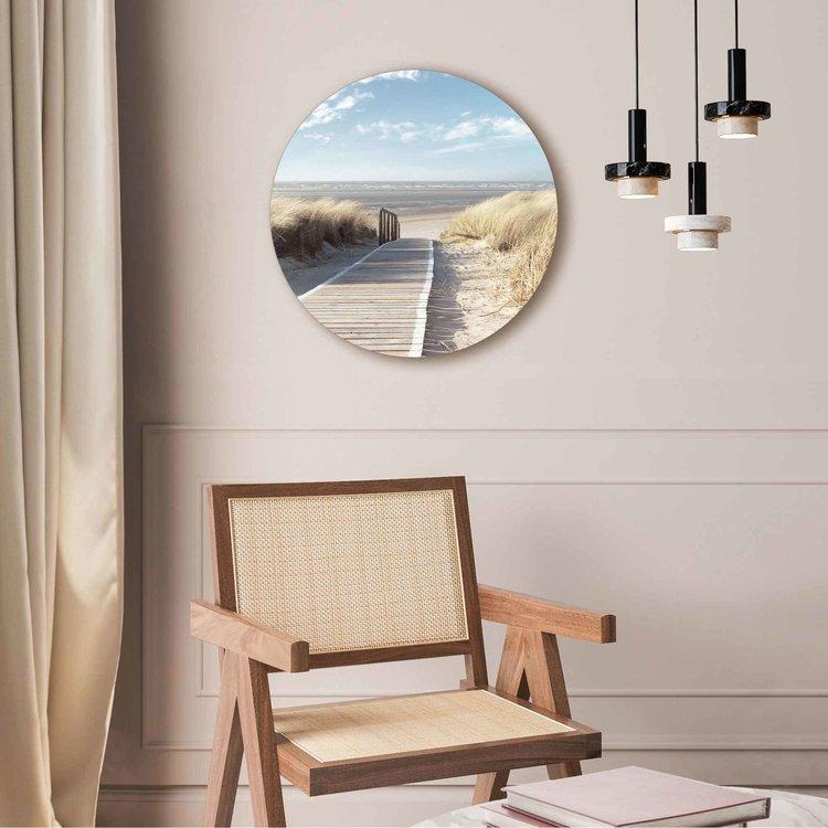 Pad door de duinen Strand - Zee - Zon - Vakantie - Acrylglas Plexiglas