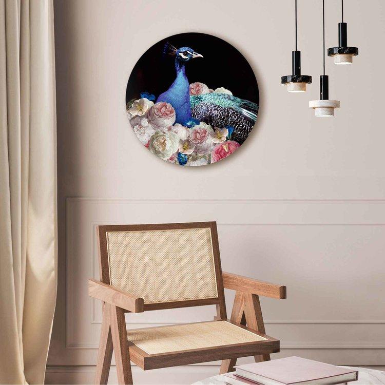 Pauw Bloemen - Vogel - Boeket - Kunst - Acrylglas Plexiglas