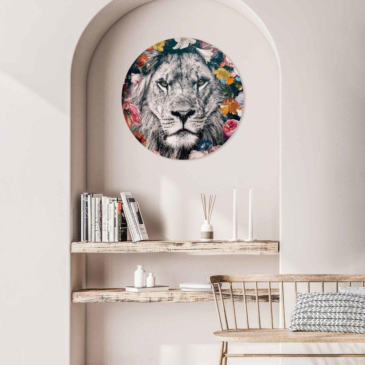 Leeuw Bloemen - Planten - Kleurrijk - Acrylglas Plexiglas