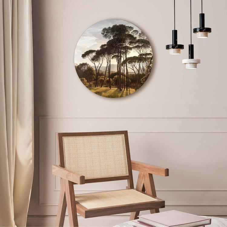 Italiaans Landschap Oude Meester - Hendrik Voogd - Villa Borghese - Rome  - Acrylglas Plexiglas