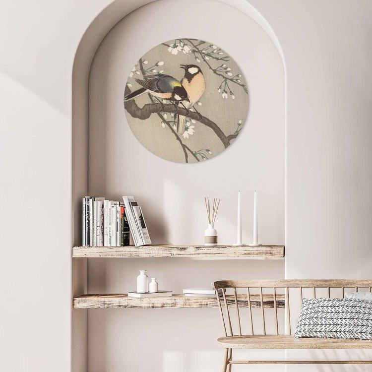 Koolmezen op bloesemtak Vogel - Bloem - Ohara Koson - Rijksmuseum - Acrylglas Plexiglas
