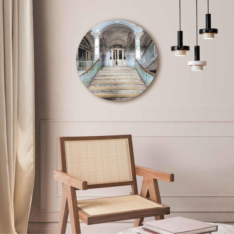 Ziekenhuis trap Urban - Oud - Verlaten - Vergane glorie  - Acrylglas Plexiglas