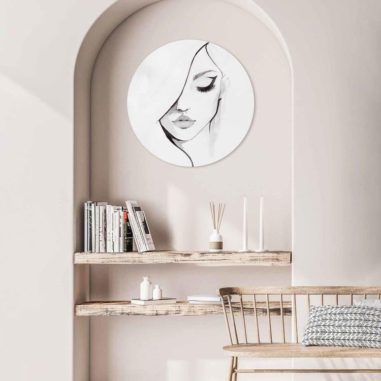 Gezicht Vrouw - Kunst - Modern - Acrylglas Plexiglas