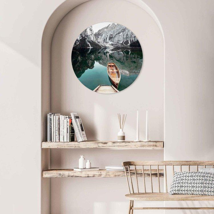 Bergmeer  Rocky Mountains - Glacier - Winter  - Acrylglas Plexiglas