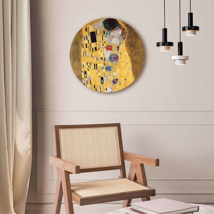 De Kus Gustav Klimt - Kunst - Liefde - Art Nouveau - Acrylglas Plexiglas