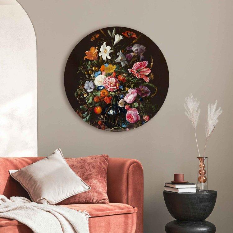 Stilleven met bloemen op vaas  Mauritshuis - Oude Meester - Boeket - Vlinder  - Acrylglas Plexiglas