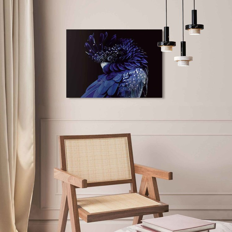 Blauwe papegaai Fotografie - Kunst - Vogel  - Acrylglas Plexiglas