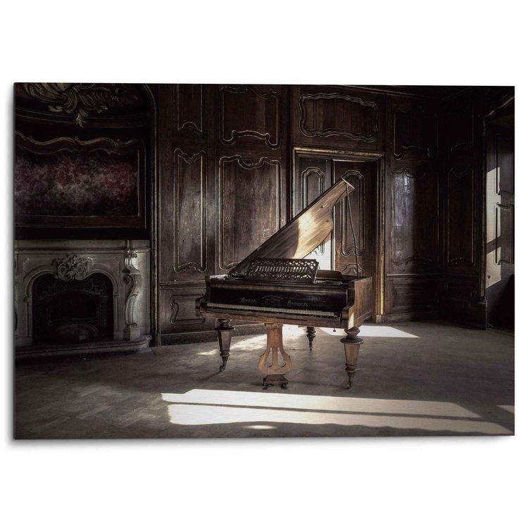 Piano Oude vleugel - Fotografie - Kunst - Alu-Dibond Aluminium